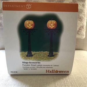 Dept 56 Pumpkin Street Lamps